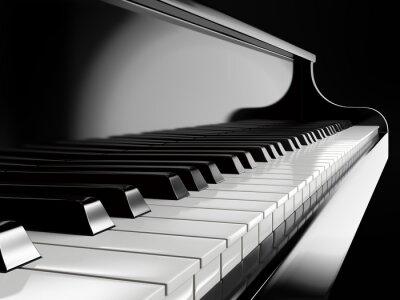 Papiers peints Piano, touches, noir, piano