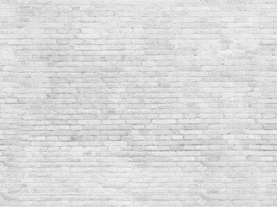 Papiers peints Pièce vide de mur de briques peintes en blanc.