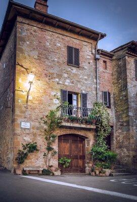 Papiers peints Pienza de nuit, Toscane