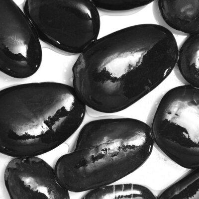 Papiers peints pierres noires humides