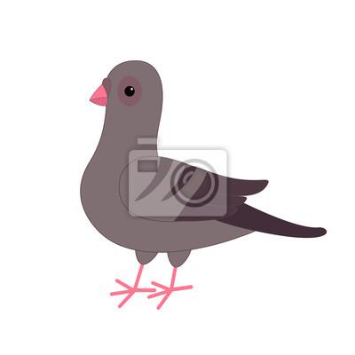 Pigeon Gris Pigeon Oiseau Personnage De Dessin Animé Mignon Papier