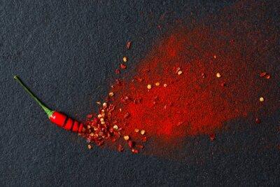 Papiers peints Piment, poivre, flocons, chili, poudre
