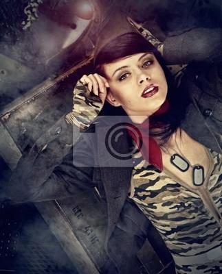 Pin-up girl de l'armée