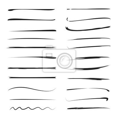 Papiers peints pinceaux grunge Vector, traits d'encre dessinés à la main