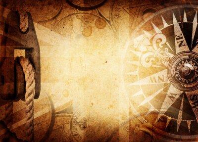 Papiers peints Pirate et nautiques thème grunge