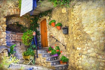 Papiers peints Pittoresque vieilles rues de villages italiens