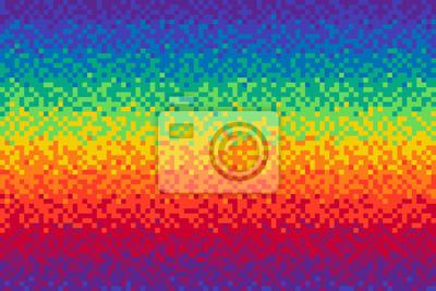Papiers Peints Pixel Arc En Ciel Fond Seamless Modèle