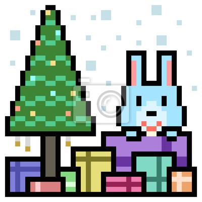 Papiers Peints Pixel Art Coffret Cadeau Lapin