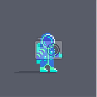 Papiers Peints Pixel Art Mignon Personnage Dastronaute