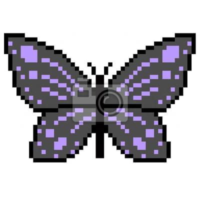 Pixel Art Papillon Multicolore