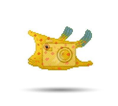 Pixel style cowfish Longhorn