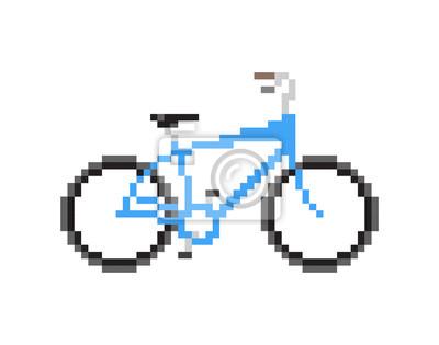 Papiers peints Pixeled, bleu, bicyclette