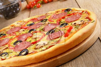 Pizza sur la table
