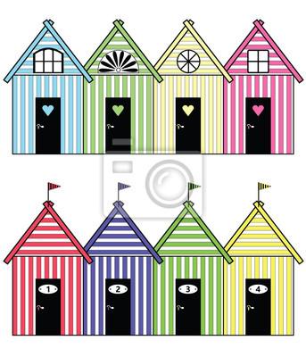 Plage maisons de stockage