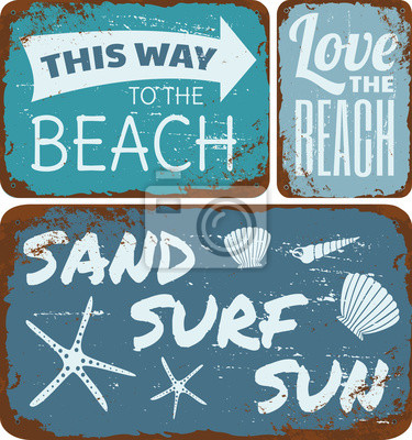 Plage Tin Signs Collection