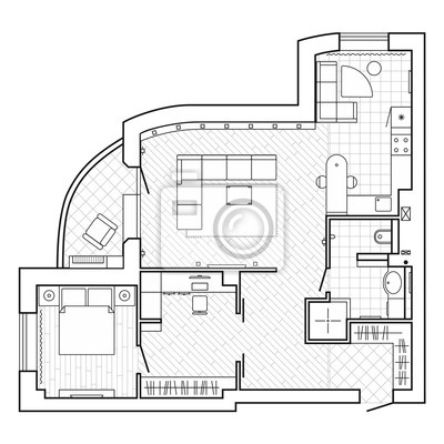 Plan Architectural Noir Et Blanc Dune Maison Disposition De Papier