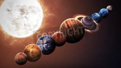 Papiers peints Planètes du système solaire de haute qualité. Éléments de cette image fournis par la NASA