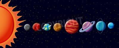 Papiers peints Planètes, solaire, système, Illustration
