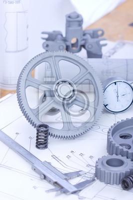 Plans et pièces de machines
