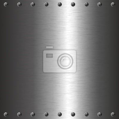 plaque de métal avec vis