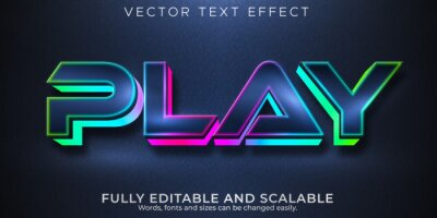 Papiers peints Play gaming editable text effect, rgb and neon text style