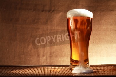 Papiers peints Plein, verre, fraîcheur, bière, mousse, table, contre, gris ...
