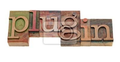 Papiers peints plugin - mot en caractères typographiques