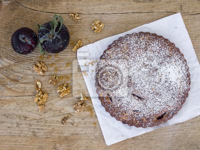 Plum tarte aux noix