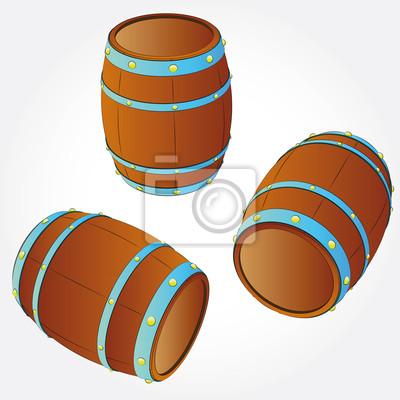plusieurs barils d'alcool boisson illustration vectorielle de stockage