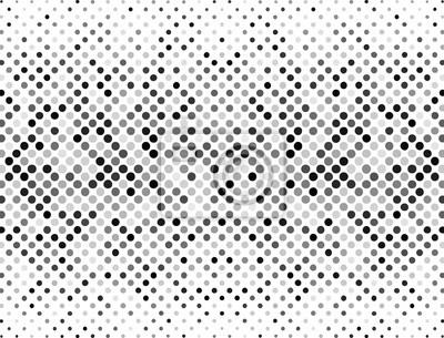 Points de demi-ton, noir et gris sur fond blanc. Fond de demi-teinte pour votre conception. Illustration vectorielle