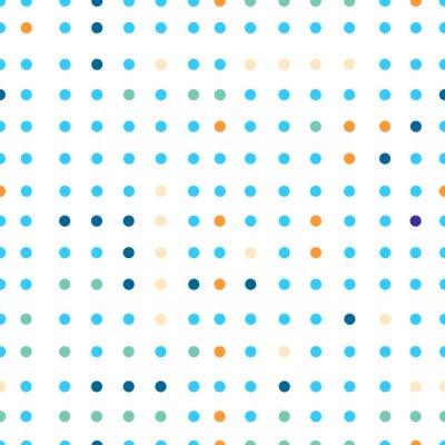 Papiers peints Polka, pois, vecteur, seamless, modèle Des points de couleurs différentes.