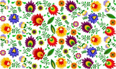 Papiers peints Polski folklor - kolorowy wzór