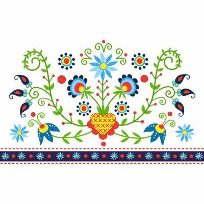 Papiers peints Polski wzór ludowy z Kaszub - inspiracja