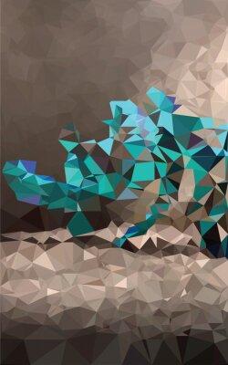 Papiers peints Polygonale fond coloré