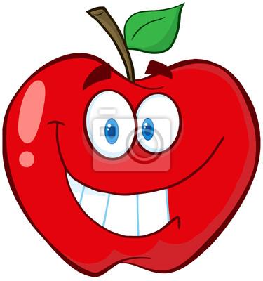 Dessin Pomme pomme de dessin animé de mascotte papier peint • papiers peints