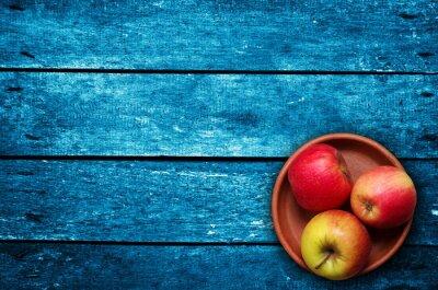 Papiers peints Pommes, table