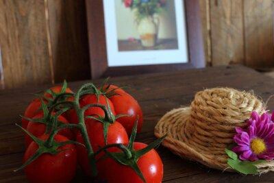 Papiers peints Pomodoro rosso un grappolo varietà Piccadilly