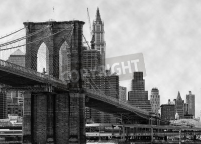Papiers peints Pont de Brooklyn à New York et l'East River