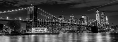 Papiers peints Pont de Brooklyn avec les toits de Manhattan en arrière plan