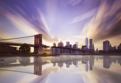 Papiers peints Pont de Brooklyn coucher du soleil