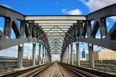 Papiers peints Pont de chemin de fer à Moscou
