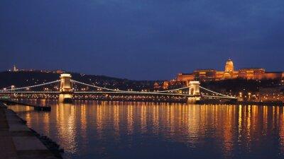 Papiers peints Pont de la chaîne de Budapest Skyline