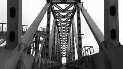 Papiers peints Pont ferroviaire en acier