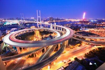 Papiers peints Pont spirale à Shanghai rivière Huangpu vue d'oeil sur le o de l'oiseau