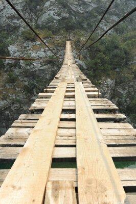 Papiers peints Pont suspendu dans le canyon