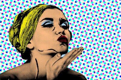 Papiers peints Pop art style comique femme, affiche rétro