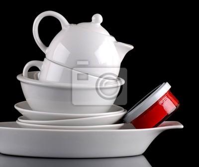 porcelaine blanche de trois