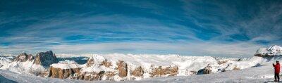 Papiers peints Pordoi dolomites italiennes panorama paysage