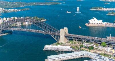 Papiers peints Port de Sydney. Superbe vue aérienne sur une journée ensoleillée