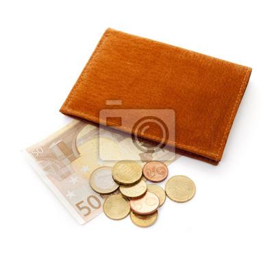 Porte-monnaie avec de l'argent